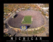 A1 Michigan Big House Aerial Michigan Wolverines 8x10 Photo