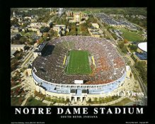 A1 Notre Dame Stadium Aerial Fighting Irish 8x10 Photo