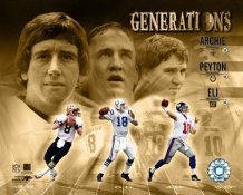 Peyton Manning, Eli Manning, Archie Manning Generations LIMITED STOCK 8X10 Photo