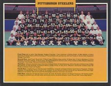 Steelers 1987 Pittsburgh Steelers Team Photo - Rod Woodson 1987 Draft Pick 8.5x11 Photo - LIMITED STOCK