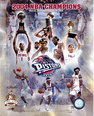 Detroit 2004 Pistons Limited Edition Team Composite 8X10 Photo