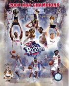 Detroit 2004 Pistons Limited Edition Team Composite 8X10 Photo