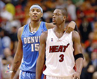 Carmelo Anthony & Dwyane Wade LIMITED STOCK 8X10 Photo