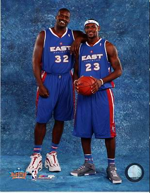 LeBron James and Shaq O'Neil LIMITED STOCK All Star Game 8X10 Photo