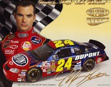 Jeff Gordon  DuPont Series 8x10 Photo (stats on Back)
