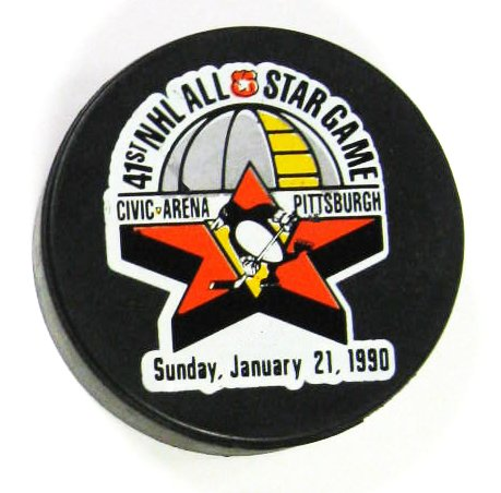 Penguins 1990 Puck All-Star Game Hockey Puck -