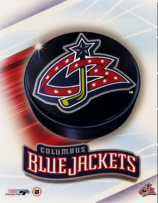 Columbus 2003 Blue Jackets Puck Team Logo 8x10 Photo