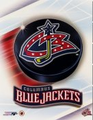 Columbus 2003 Blue Jackets Puck Team Logo 8x10 Photo