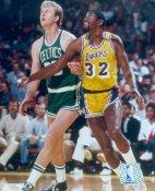 Larry Bird & Magic Johnson Celtics Lakers SATIN 8X10 Photo LIMITED STOCK