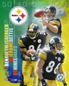 Jerome Bettis, Hines Ward, Ben Roethlisberger LIMITED STOCK 8x10 Photo