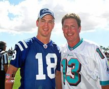 Dan Marino and Peyton Manning  Miami Dolphins 8X10 Photo