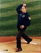 President Bush 1st Pitch  2001 LIMITED STOCK World Series 8x10 Photo