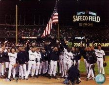 Mariners Flag  2001 World Series 8x10 Photo