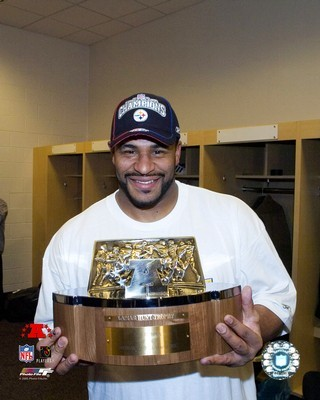 Jerome Bettis AFC Champs Trophy LIMITED STOCK Steelers 8x10 Photo