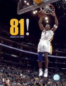 "Kobe Bryant ""81"" Los Angeles Lakers 8x10 Photo LIMITED STOCK"