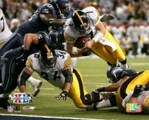 Ben Roethlisberger & Jerome Bettis Super Bowl 40 TD Dive Pittsburgh Steelers Slight Corner Crease SUPER SALE 8x10 Photo