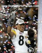 Hines Ward Lombardi Trophy Super Bowl 40 Steelers 8x10 Photo  LIMITED STOCK -  WEB ADDRESS WILL NOT BE ON THE ACTUAL PHOTO