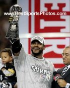 Jerome Bettis Lombardi Trophy LIMITED STOCK Super Bowl 40 Steelers 8x10 Photo