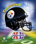 Steelers 2006 Helmet Team Logo Super Bowl 40 8x10 Photo