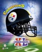 Steelers 2006 Helmet Team Logo Super Bowl 40 8x10 Photo