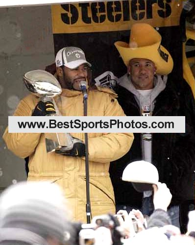 Jerome Bettis & Ward Victory Parade Super Bowl 40 LIMITED STOCK 8x10 Photo