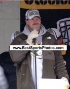 Bill Cowher Victory Parade Super Bowl 40 LIMITED STOCK 8x10 Photo