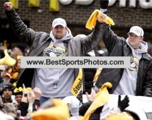 Jerame Tuman &  Heath Miller Victory Parade SB XL 40 LIMITED STOCK 8x10 Photo