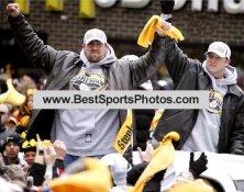 Jerame Tuman &  Heath Miller Victory Parade SB XL 40 LIMITED STOCK 8x10 Photo
