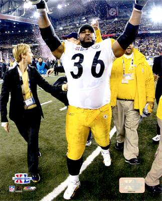Jerome Bettis Super Bowl 40 XL Steelers 8x10 Photo