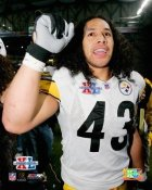 Troy Polamalu Super Bowl 40 Celebration Steelers 8x10 Photo