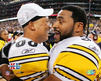 Hines Ward & Jerome Bettis Super Bowl 40 LIMITED STOCK Steelers 8x10 Photo