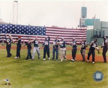 Tom Brady Patriots 2002 Team Throws 1st Pitch at Fenway Park LIMITED STOCK New England Patriots 8X10 Photo
