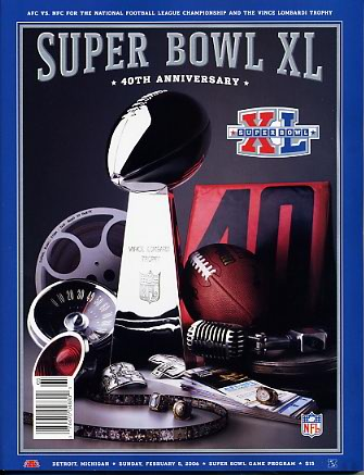 Steelers 2006 Super Bowl XL Program