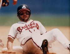 Mark Lemke Atlanta Braves 8X10 Photo