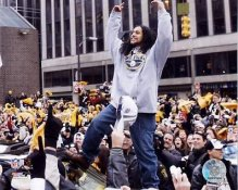 Troy Polamalu Victory Parade Super Bowl 40 LIMITED STOCK Steelers 8x10 Photo