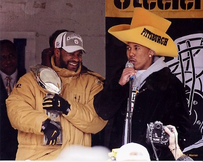 Jerome Bettis & Hines Ward Victory Parade Super Bowl XL 40 Steelers LIMITED STOCK 8x10 Photo