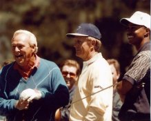 Arnold Palmer, Jack Nicklaus and Tiger Woods 8X10 Photo