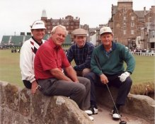 Arnold Palmer, Jack Nicklaus, Tom Watson and Ray Floyd 8X10 Photo