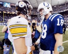 Peyton Manning and Ben Roethlisberger LIMITED STOCK Indianapolis Colts 8X10 Photo