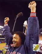 Pedro Martinez Celebrating 2004 ALCS Boston Red Sox 8x10 Photo