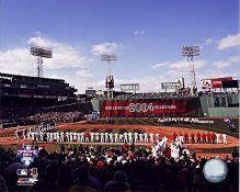 N2 Fenway Park Ring Ceremony Boston 2005 for 2004 World Series 8x10 Photo