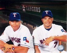 Alex Rodriguez and Ivan Rodriguez Texas Rangers 8X10 Photo