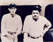 Babe Ruth and Bill Dickey New York Yankees 8X10 Photo