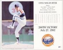 Nolan Ryan 200th Win Houston Astros 8X10 Photo