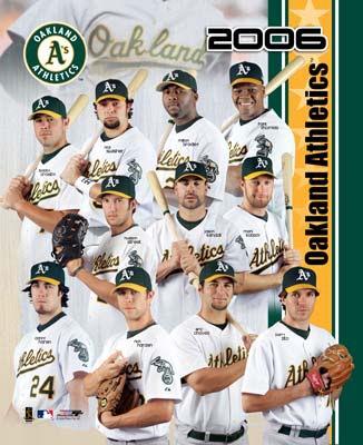 Oakland 2006 A's Team Composite 8x10 Photo