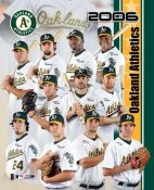 Oakland 2006 A's Team Composite 8x10 Photo