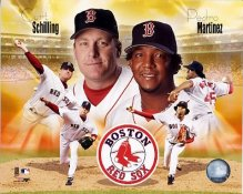 Curt Schilling and Pedro Martinez LIMITED STOCK Boston Red Sox 8x10 Photo