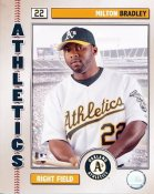 Milton Bradley 2006 Studio LIMITED STOCK Oakland A's 8X10  Photo