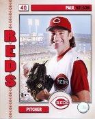 Paul Wilson 2006 Studio Cincinnati Reds 8x10 Photo