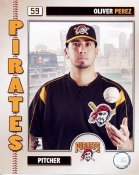Oliver Perez 2006 Studio Pittsburgh Pirates 8x10 Photo